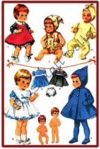 "Vintage Pattern for 9"" Baby & Toddler Dolls *Tiny Tears - $7.99"