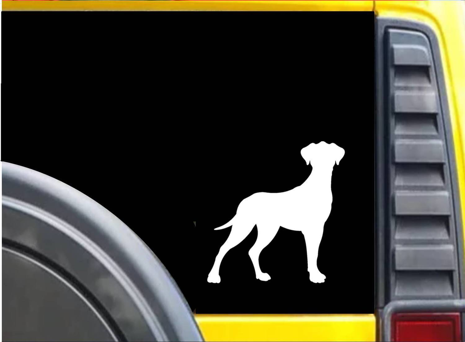 Great Dane K613 6 inch Sticker uncropped dog decal