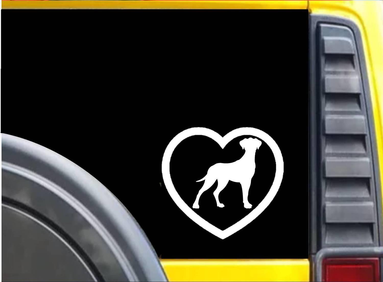 Great Dane Heart K614 6 inch Sticker uncropped dog decal