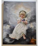 Sandra Kuck February Violet Angel Art Giclee Canvas Print - stretched - NEW - $90.00