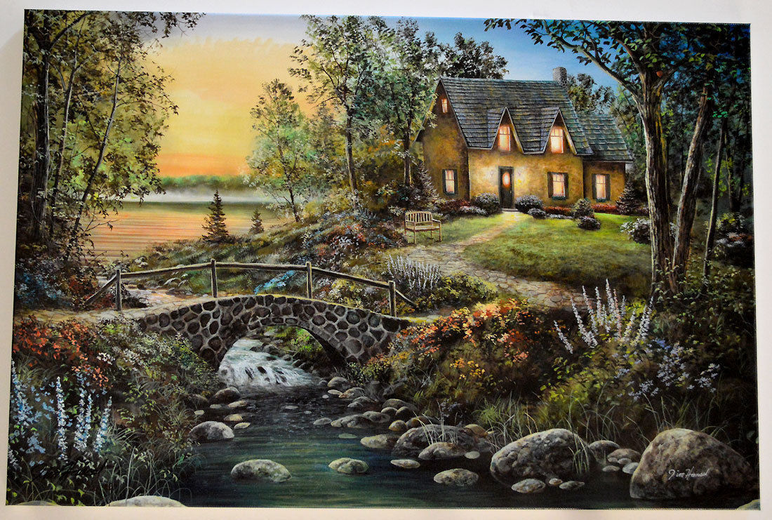 Jim Hansel Stonybrook Cottage Artist Proof LE SN Giclee Canvas Print - stretched