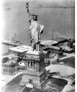 Statue Liberty New York City Vintage 8X10 BW Historical Memorabilia Photo - $6.99