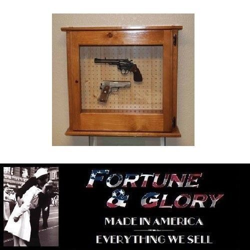 Solid Pine Pistol Cabinet - MADE IN USA