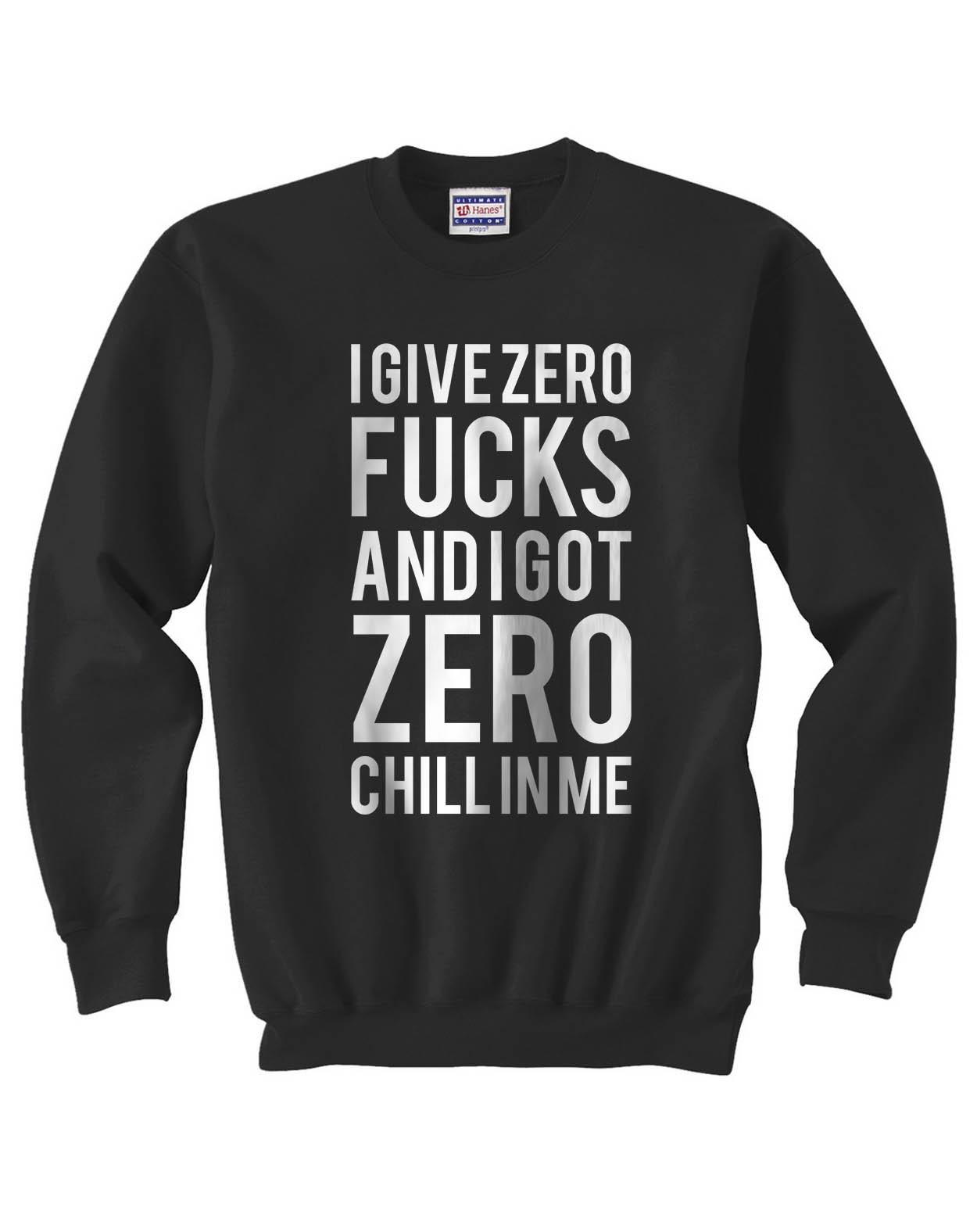 I give a zero fucks  sweater black