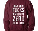 I give a zero fucks  sweater maroon thumb155 crop
