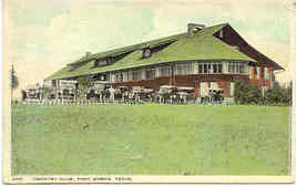 Country Club Fort Worth Texas 1906 vintage Post Card  - $6.00