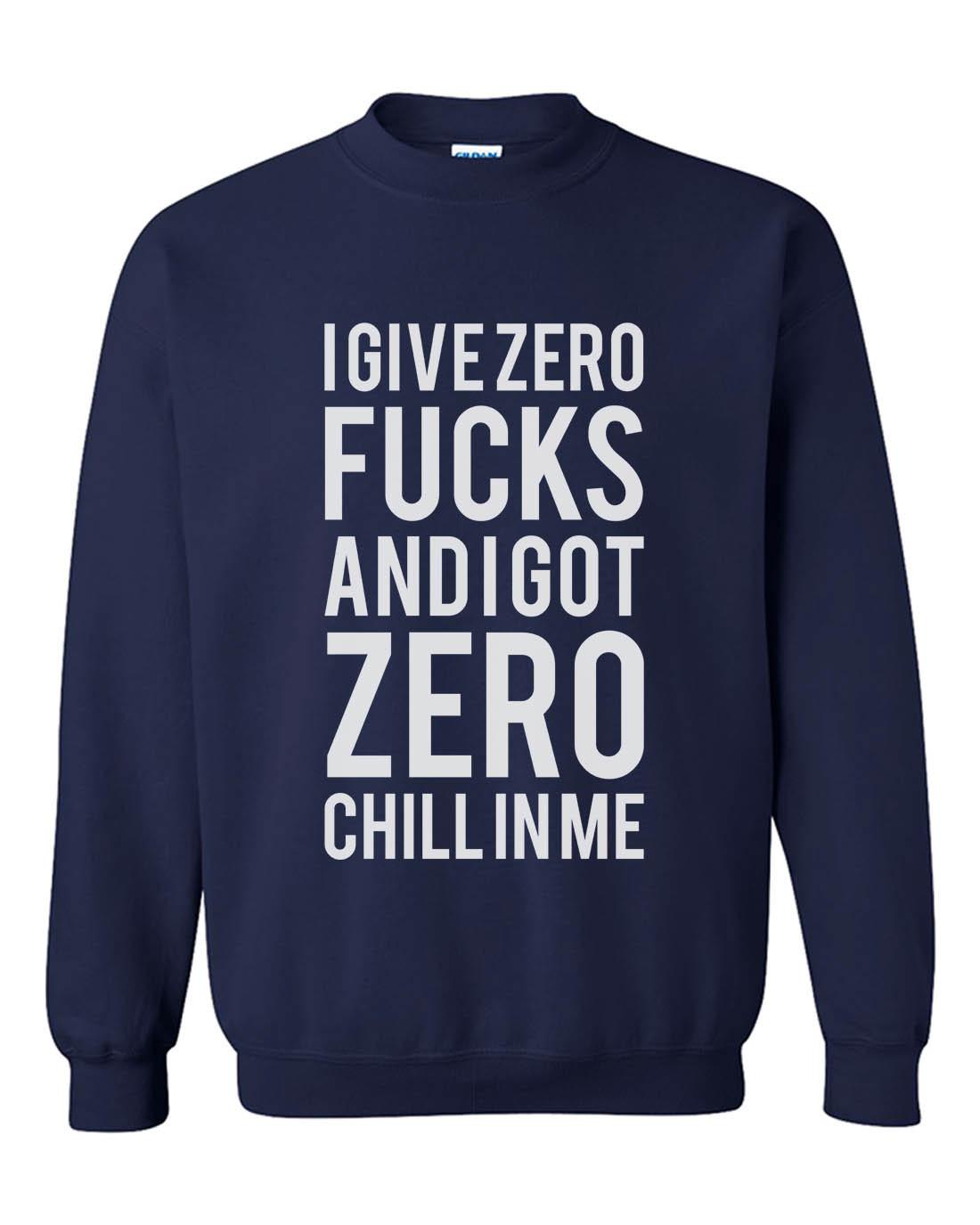I give a zero fucks  sweater nav