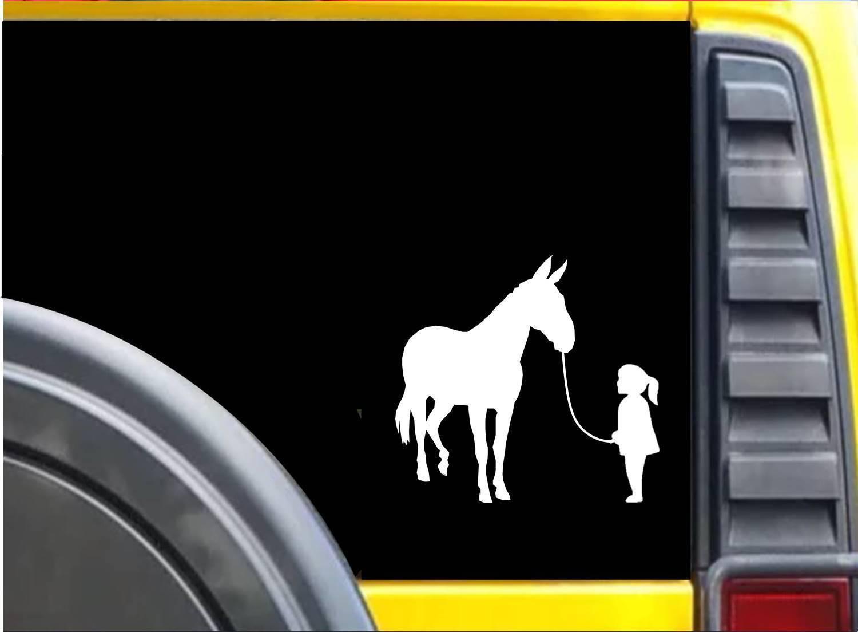 Girl Walking Mule K630 6 inch Sticker decal