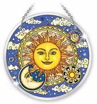 "Celestial Harmony Sun Catcher AMIA 6.5"" Large Round New Sun Moon Glass  - €29,75 EUR"