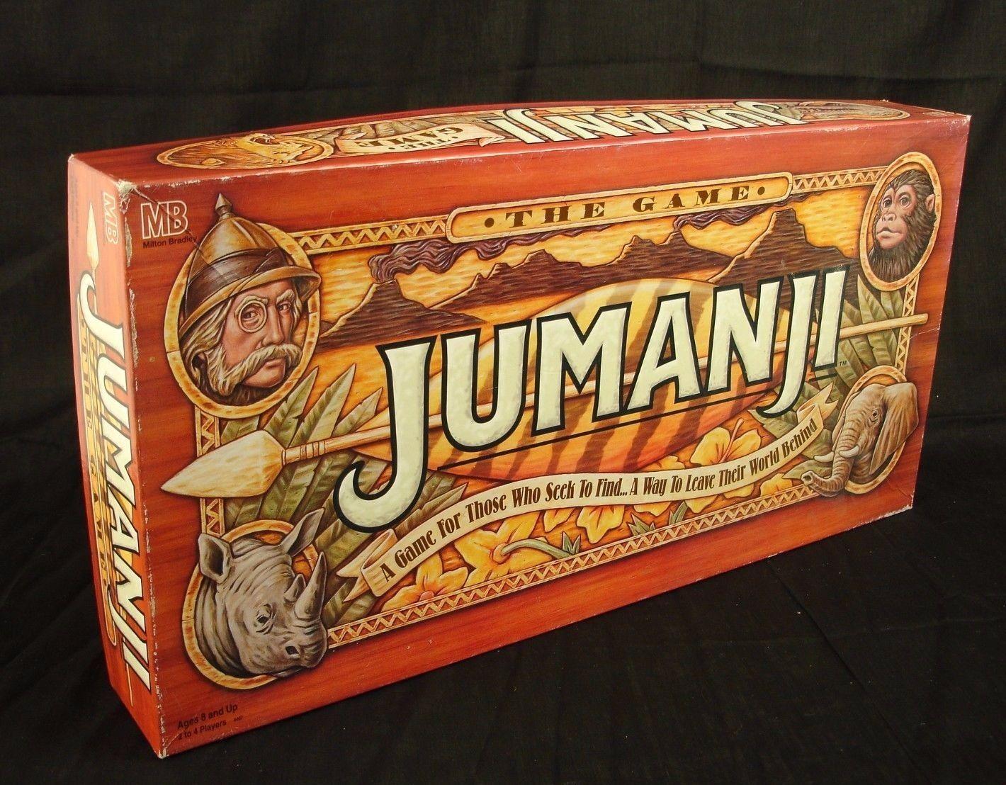 Jumanji Board Game 1995 Milton Bradley Robin Williams GUC