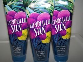 Lot of 3 Bath & Body Works Honolulu Sun Ultra Shea Body Cream- Limited E... - $33.50