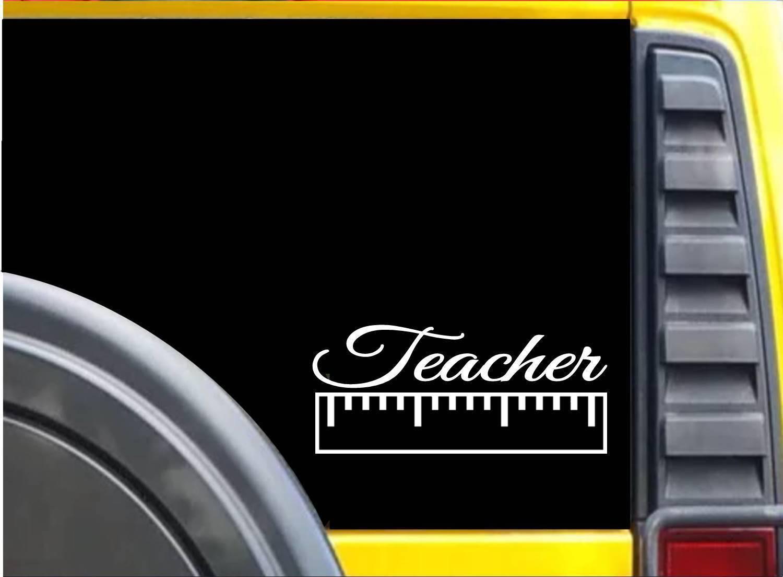 Teacher Ruler K635 8 inch Sticker teaching decal
