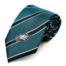 Philadelphia Eagles Mens Neck Tie NFL Football Sports Fan Striped Green ... - $31.68