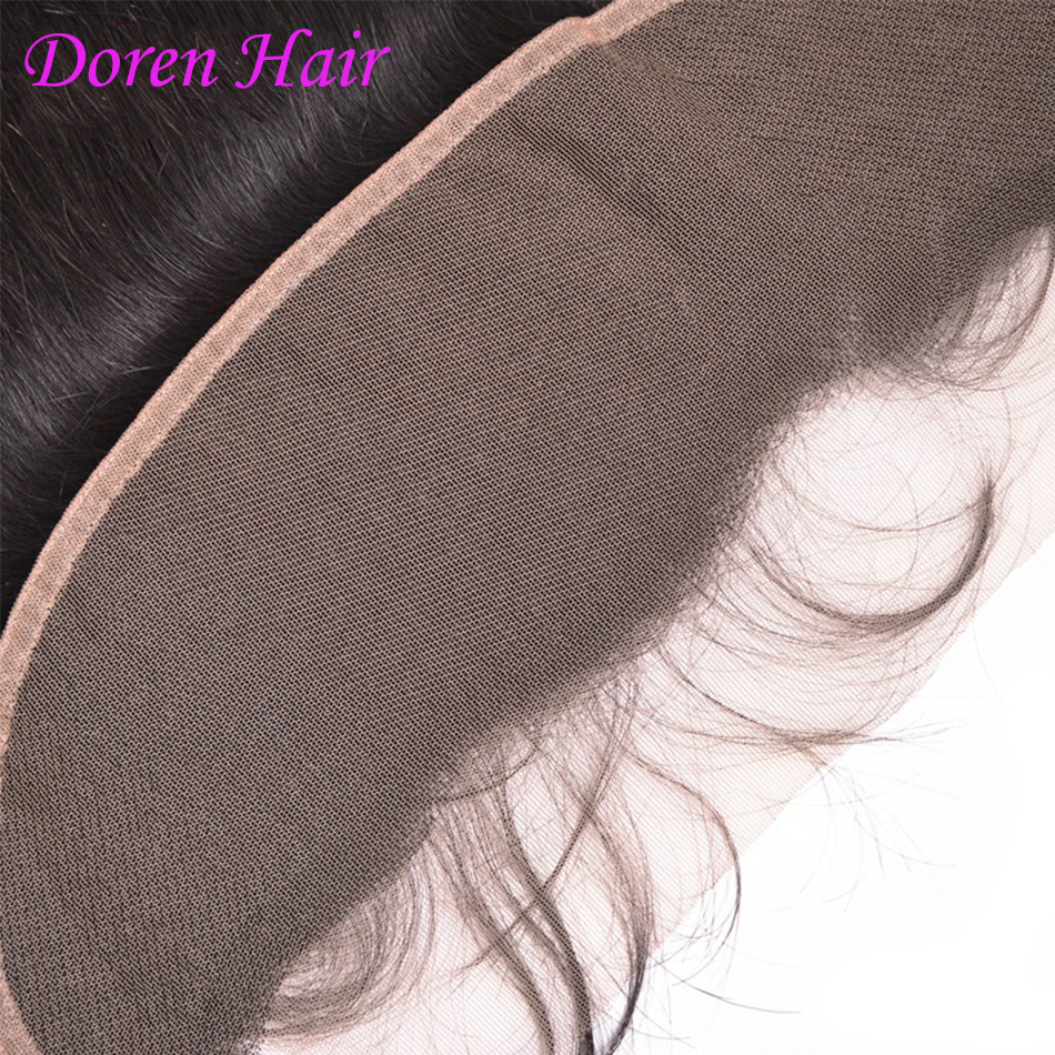 Silky Straight 13x4 Lace Frontal Ear to Ear with Baby Hair Brazilian Virgin Hair