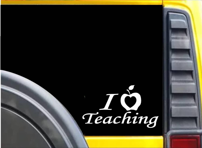 I heart Teaching Apple K637 8 inch Sticker teaching decal