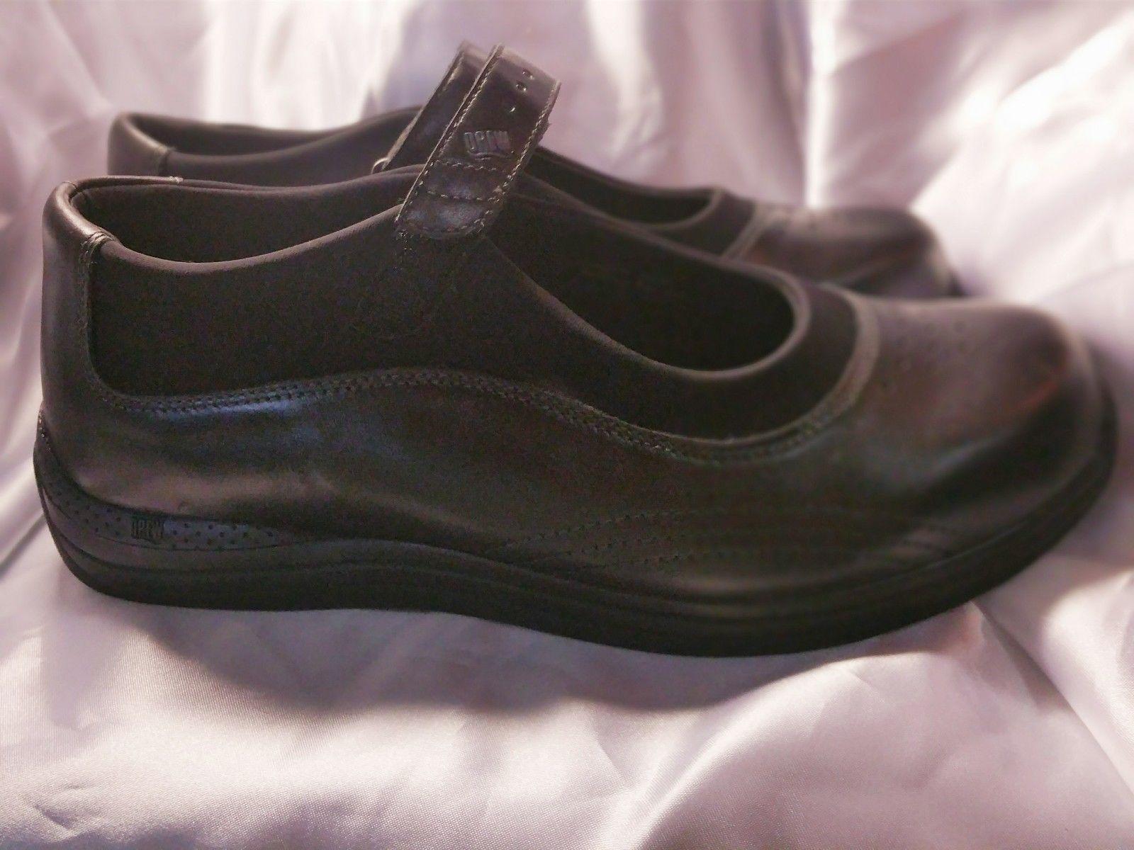 Pre-owned DREW Women's Mary Jane Black Leather Diabetic Shoe Size 11WW
