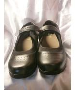Pre-owned DREW Women's Mary Jane Black Leather Diabetic Shoe Size 11WW - $49.99