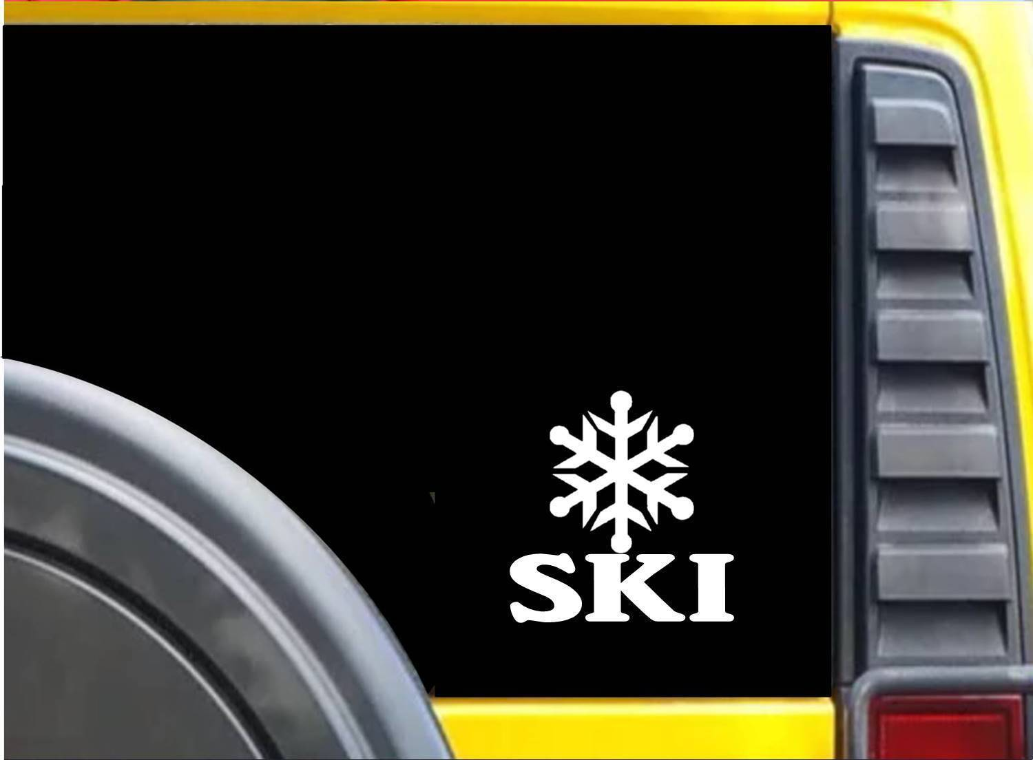 Ski Snowflake K640 6 inch Sticker skiing decal