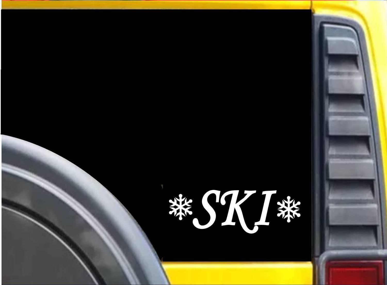 Ski Snowflakes K642 8 inch Sticker skiing decal