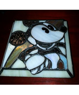 Vintage Walt Disney Mickey Mouse Slag/Stained Glass Trinket Box Pre-owned - $149.99