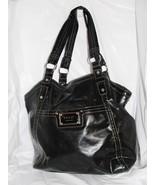 RELIC BRAND X-Large Tote/Shopper Shoulder Handbag Black Patent/Vinyl - $29.99