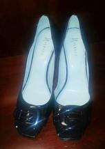 Nickels Night Chocolate Brown Patent Pumps Dress Heels Peep Toe 11M NWOB - $24.99