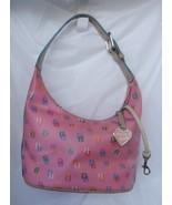 DOONEY BOURKE Bubble Gum Pink DB Signature Hobo Handbag in Great Condition - $34.99