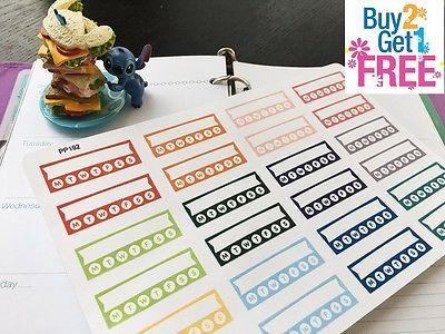 PP192 -- 24pcs Habit Tracker Life Planner Stickers for Erin Condren BUY 2 GET 3
