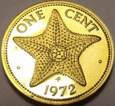 Proof Bahamas 1972 Cent~Starfish~35,000 Minted~Free Shipping - $4.74