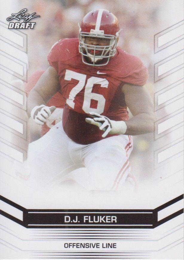 D.J. Fluker 2013 Leaf Draft Card #86