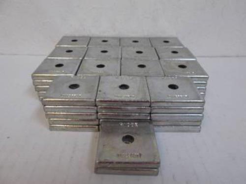 """Unistrut P1062 EG 5/16"""" Electro-Galvanized Square Washers - Lot of 77"""