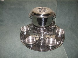 TRAMONTINA Deluxe Stainless Steel Fondue Set-Made in Brazil-Home Party-D... - $59.50