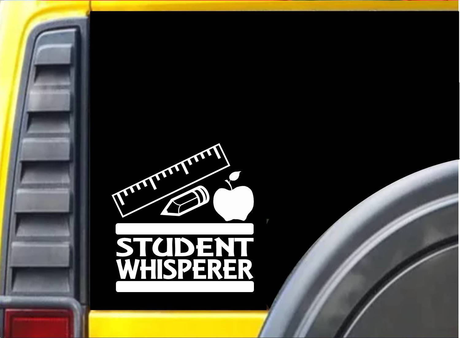 Student Whisperer K679 6 inch Sticker teaching decal