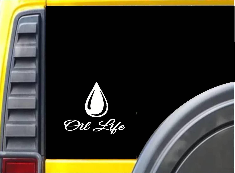 Oil Life Sticker k680 6 inch case dropper diffuser decal