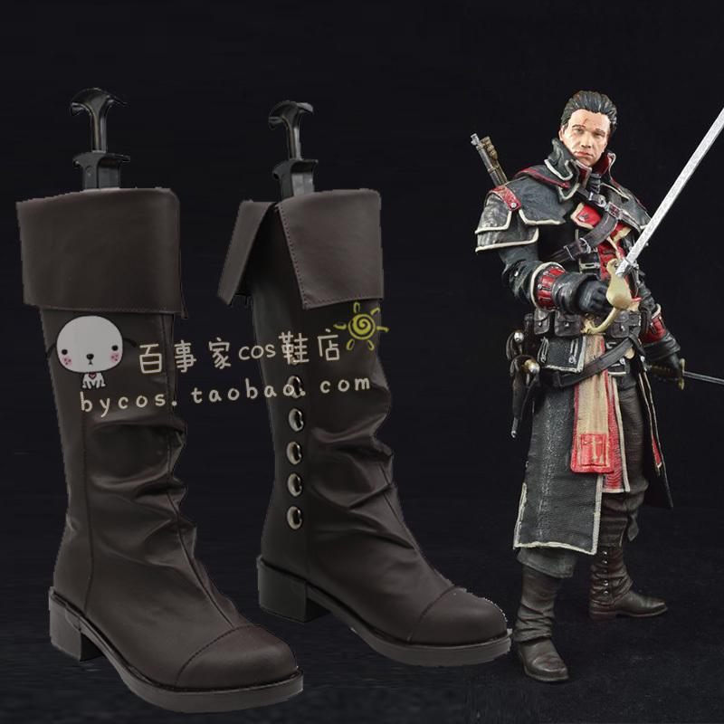 Assassin's Creed Rogue Shay Patrick Cormac Cosplay Boots shoes shoe  #AT85