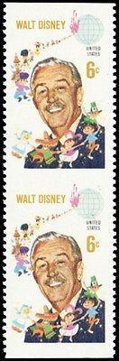 1355b, Mint NH 6¢ Disney Imperforate Between ERROR Pair - Stuart Katz
