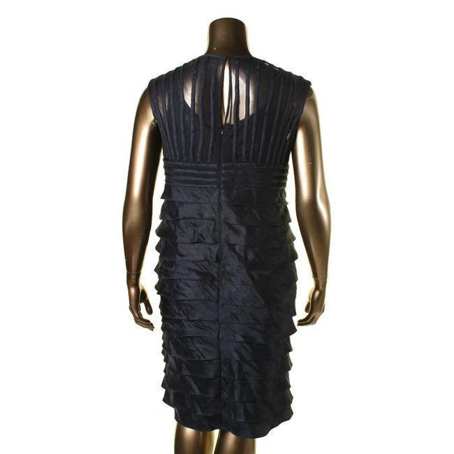 Adrianna Papell New Womens Metallic Pleat Cocktail Dress 16