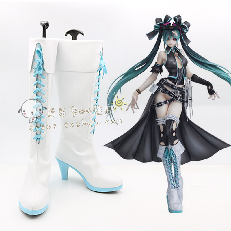 VOCALOID 2 Shiie calcium MIKU Cosplay Boots shoes shoe boot  #AT87