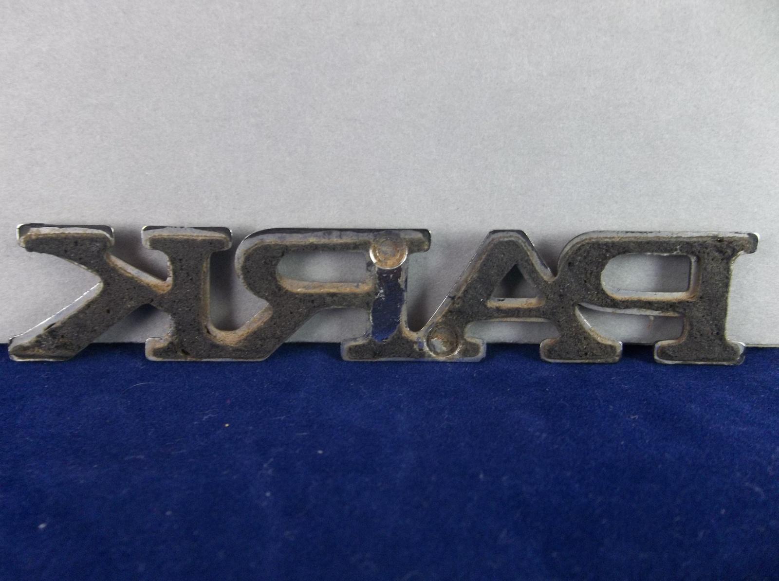 1997-2004 Buick 'Park' Avenue Chrome Plastic Script Emblem OEM
