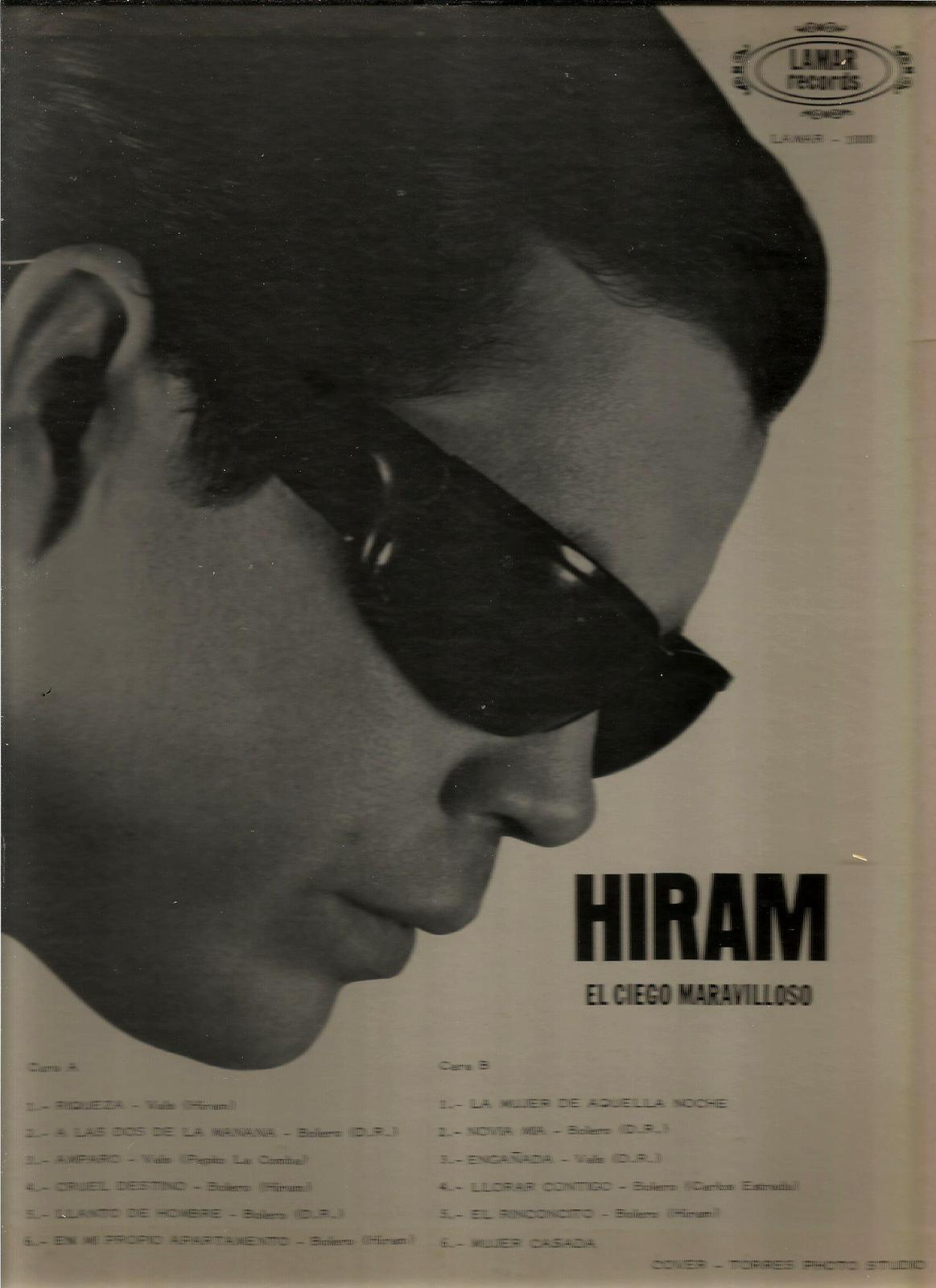 HIRAM  * EL CIEGO MARAVILLOSO ~ THE WONDERFUL BLIND MAN *  LP  STEREO