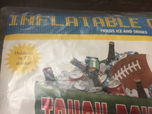 Amscan Football Fan Birthday Party Inflatable Plastic Cooler -SUPERBOWL