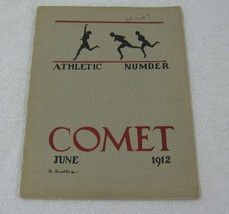 1912 The Comet Athletic & Advertising Booklet 40 Pages Vol 2 No 9 WD Hig... - $18.58