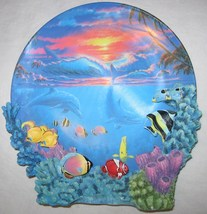 THE HAMILTON COLLECTION SEALIFE AT SUNSET PLATE ANTHONY JONES COLORS OF THE SEA - $18.38