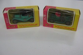 2-Vintage Matchbox Model Of Yesteryear Boxed 1911 Renault Y-2 & 1911 Max... - $15.78