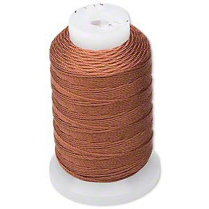 Brown Natural Pure Silk Beading Cord, Thread, Size E, 200 meters