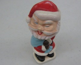 60's Santa Claus Nodder Figure Holding Sack Of ... - $36.35