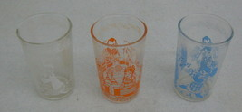 3-1953 Welch's Howdy Doody Glasses All Differen... - $24.05