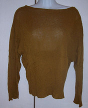 Frenchi Cinnamon Brown Slouchy Dolman Top Sweater Boatneck Sz Med EUC - $17.33