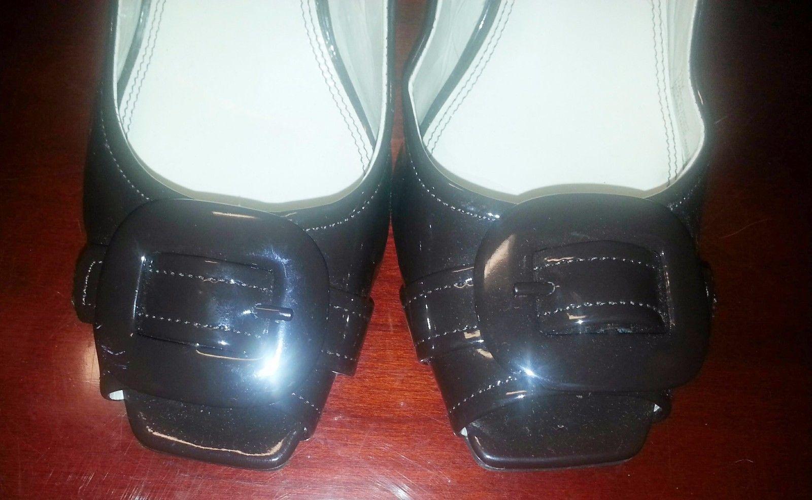 Nickels Night Chocolate Brown Patent Pumps Dress Heels Peep Toe 11M NWOB