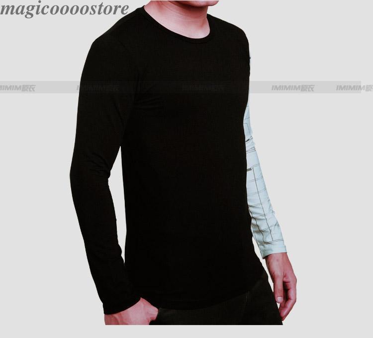 Marvel Winter Soldier Iron Arm Men Long Sleeve Black T- Shirt Costume Sportwear